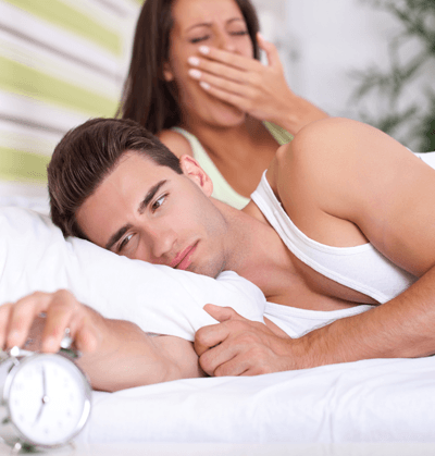 Couple in bed