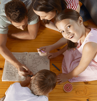 Happy family coloring